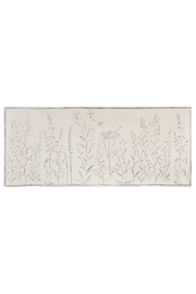 Ganz White Embossed Floral Wall Hanging - Front cropped