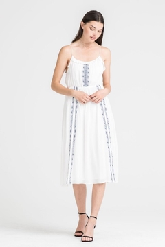 Lush White Embroidered Dress - Product List Image
