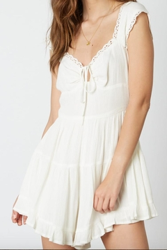 Shoptiques Product: White Embroidered Dress