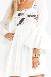 Show Me Your Mumu White embroidered dress - Product Mini Image