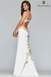 Faviana White Embroidered Gown - Product Mini Image