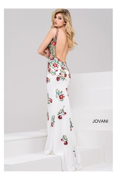 Jovani PROM White Embroidered Gown - Alternate List Image