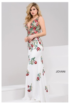 Jovani PROM White Embroidered Gown - Product List Image
