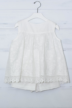 Shoptiques Product: White Embroidered Outfit