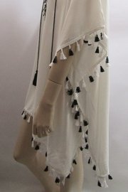 ETC EMBROIDERED FRINGED PONCHO - Side cropped