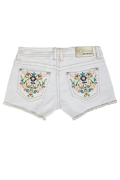 Grace in L.A. White Embroidery Shorts - Alternate List Image