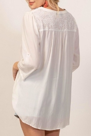 Andree by Unit White Embroidery Top - Front full body
