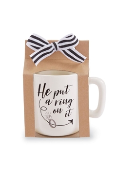 Mud Pie White Engagement Mug - Alternate List Image
