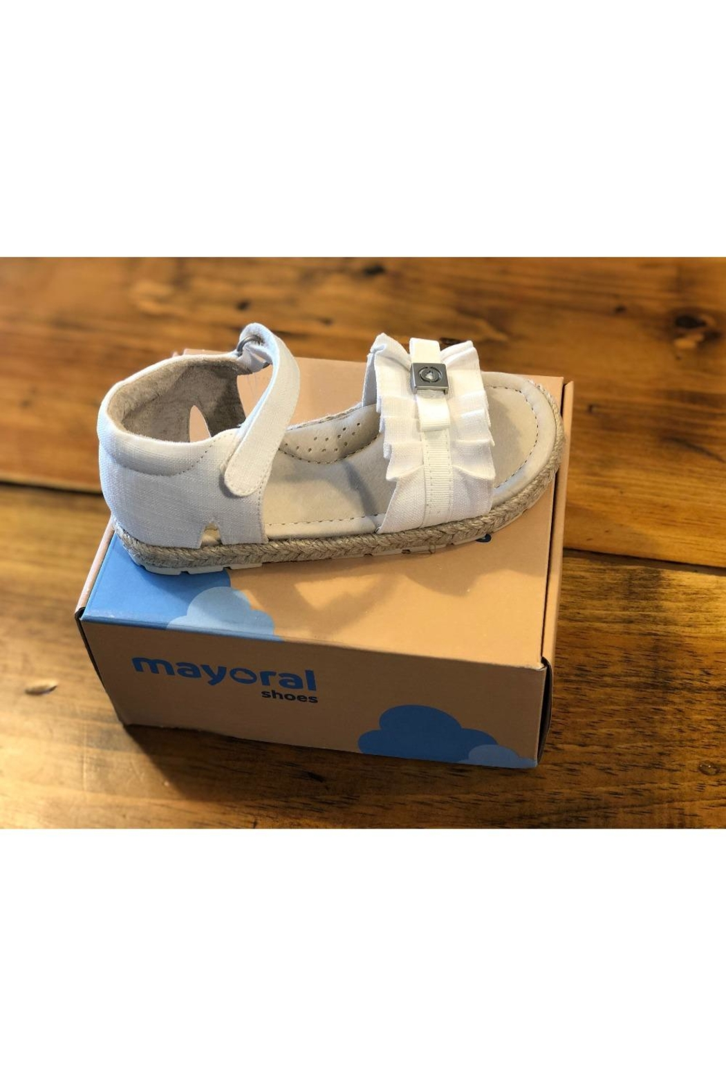 Mayoral White Espadrille Sandal - Front Cropped Image