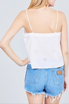 Active Basic White Eyelet Cami - Alternate List Image