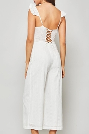 Promesa USA White Eyelet Jumpsuit - Front full body