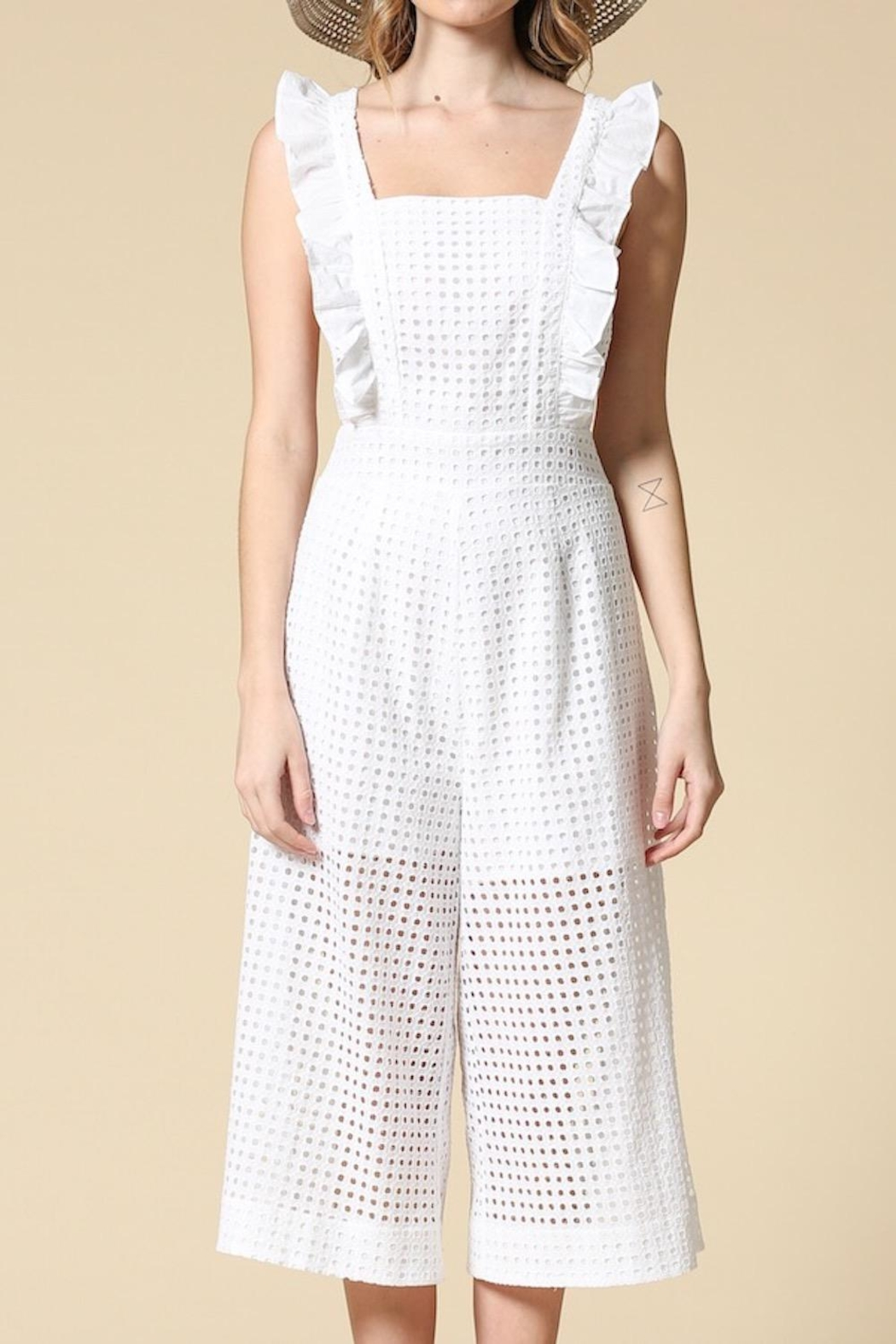 601d2e74184 Illa Illa White Eyelet Jumpsuit from Los Angeles by AndyLiz Boutique ...