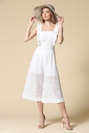 Illa Illa White Eyelet Jumpsuit - Product Mini Image
