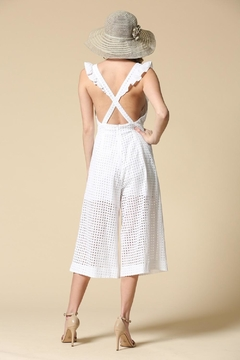 Illa Illa White Eyelet Jumpsuit - Alternate List Image