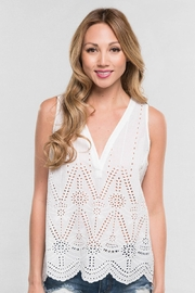 Lovestitch White Eyelet Perfection - Front cropped