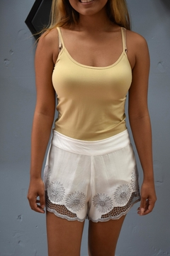 Angels by the Sea White Eyelet Short - Product List Image
