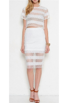 L'atiste White Eyelet Skirt Set - Alternate List Image
