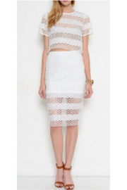 L'atiste White Eyelet Skirt Set - Product Mini Image