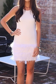 Lucy Paris White Feather Dress - Product Mini Image