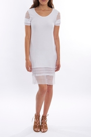Pete White Fitted Dress - Product Mini Image