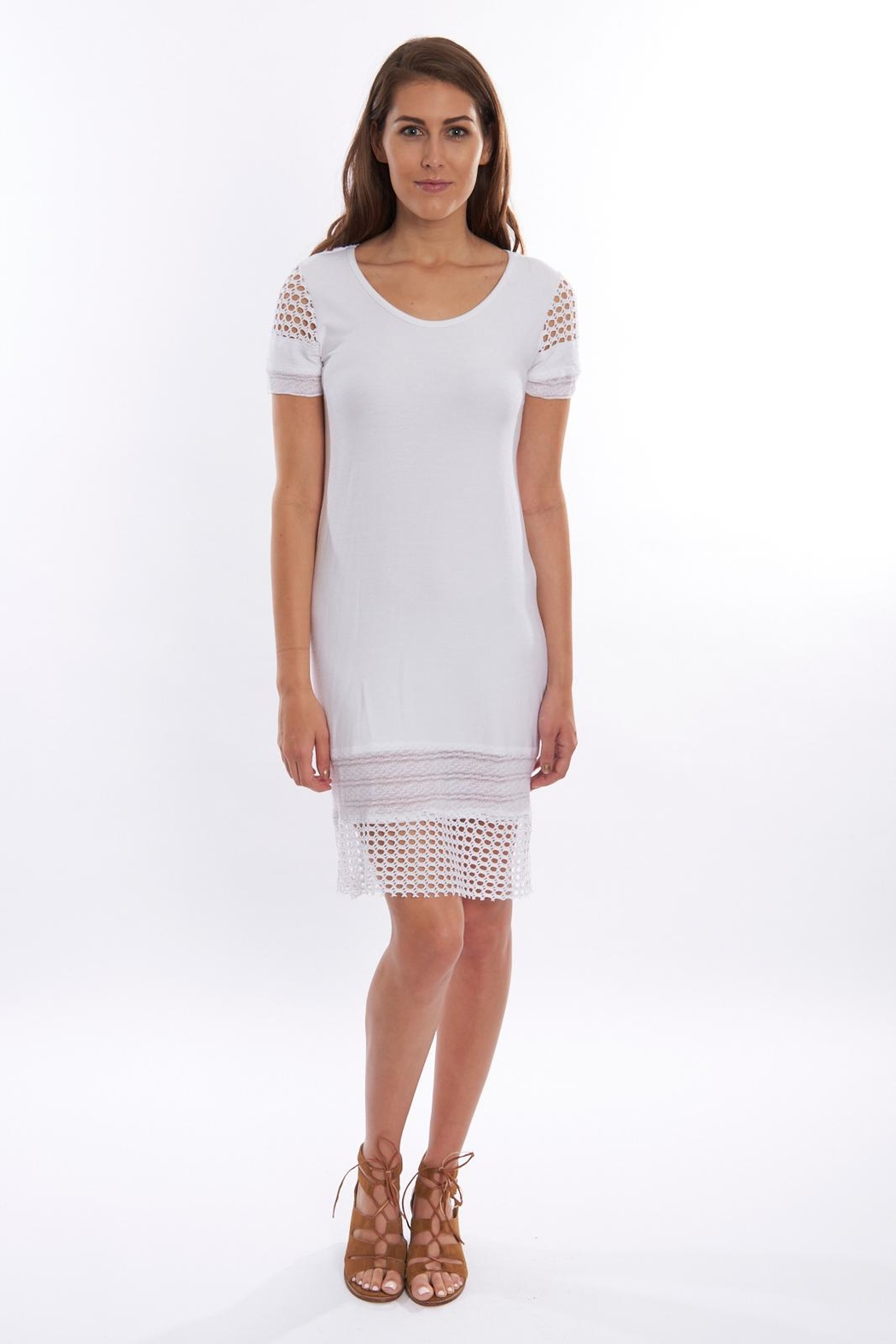 Pete White Fitted Dress - Main Image