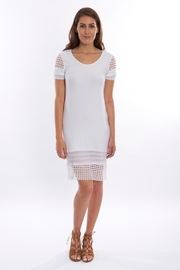 Pete White Fitted Dress - Front cropped