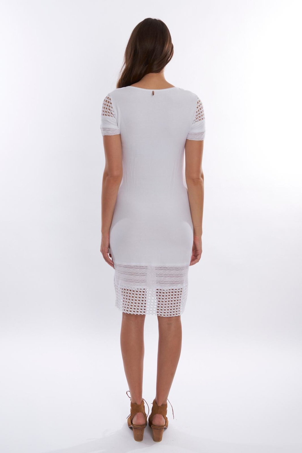 Pete White Fitted Dress - Front Full Image