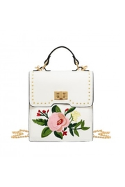 Mellow World White Floral Crossbody - Product Mini Image