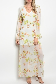 Grifflin Paris White Floral Maxi - Product Mini Image