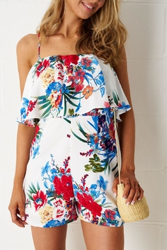 frontrow White Floral Playsuit - Product List Image