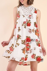 Umgee USA White-Floral Print Dress - Product Mini Image