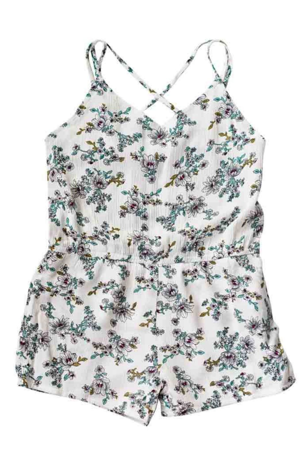 Bailey's Blossoms White Floral Romper - Main Image