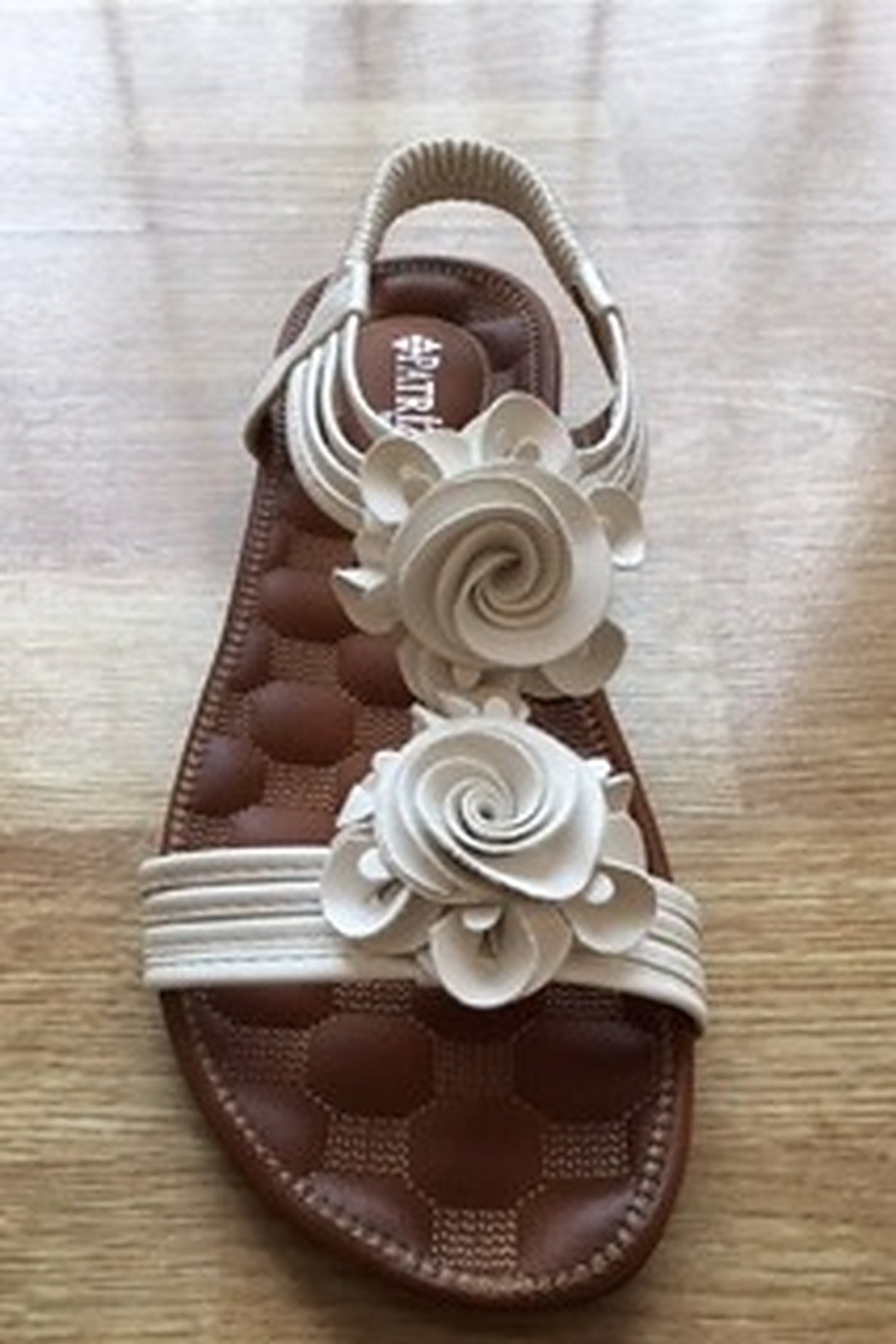 Spring Step  white flower flat sandal - Main Image
