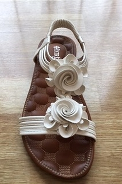 Spring Step  white flower flat sandal - Alternate List Image