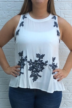 Shoptiques Product: White Flowered Tank