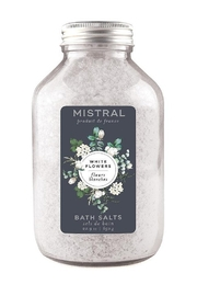The Birds Nest WHITE FLOWERS SIGNATURE BATH SALTS - Front cropped