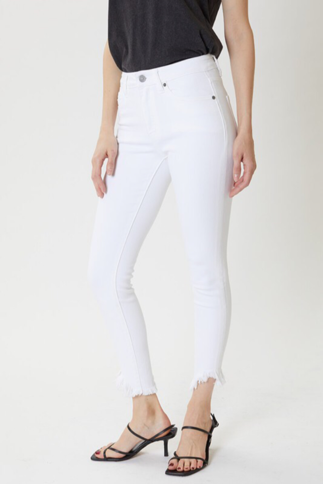 KanCan White frayed Jeans - Side Cropped Image