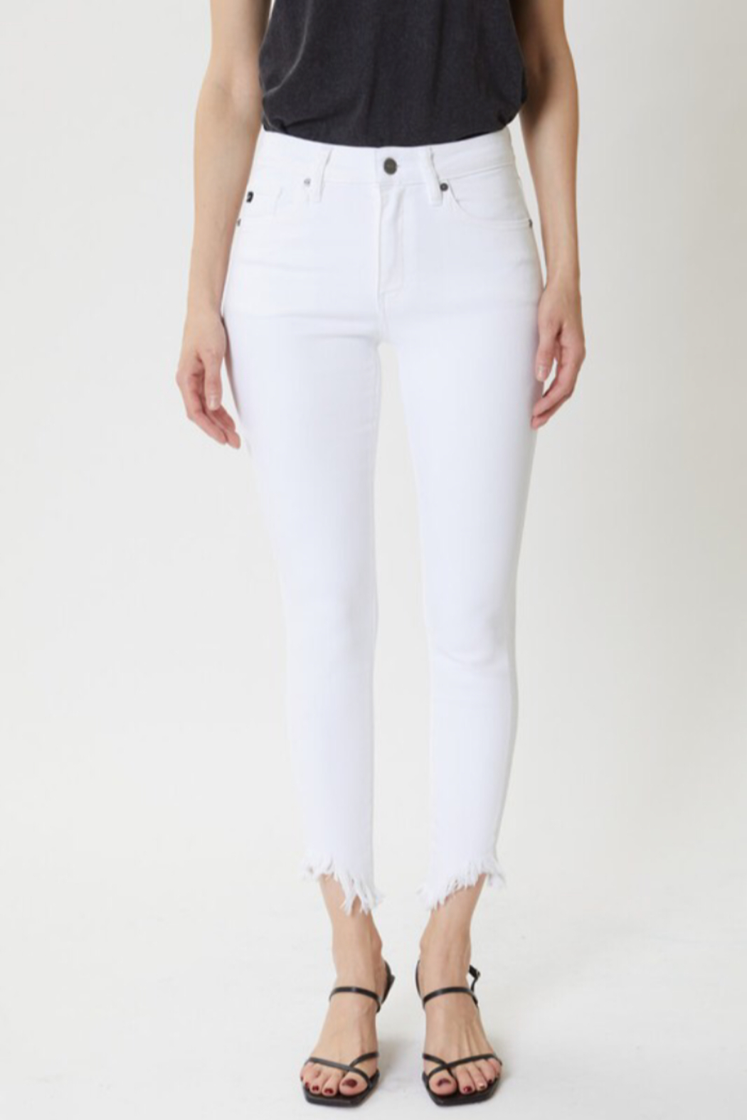 KanCan White frayed Jeans - Front Cropped Image