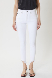 KanCan White frayed Jeans - Front cropped