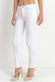 just black White Frayed Skinny - Side cropped