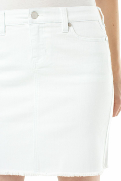 Liverpool  WHITE FREY HEM DENIM SKIRT - Alternate List Image