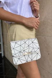 Handbag Express White Geometric Bag - Product Mini Image