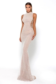 PORTIA AND SCARLETT White Glitter Fit & Flare Long Formal Dress - Product Mini Image