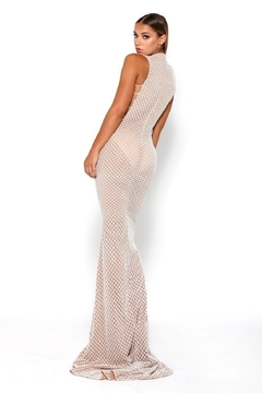 PORTIA AND SCARLETT White Glitter Fit & Flare Long Formal Dress - Alternate List Image