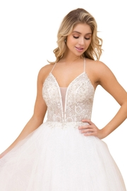 NOX A N A B E L White Glitter V-Neck Bridal Gown - Product Mini Image