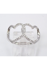 Margolin & Co White Gold Diamond Heart Cluster Cocktail Ring Size 7 Best Friend Gift F-VS FREE Sizing - Product Mini Image