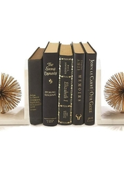 Tozai Home White Gold Marble Bookend Set of 2 - Product Mini Image