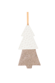 Zodax White + Gold Tree Ornament - Product Mini Image