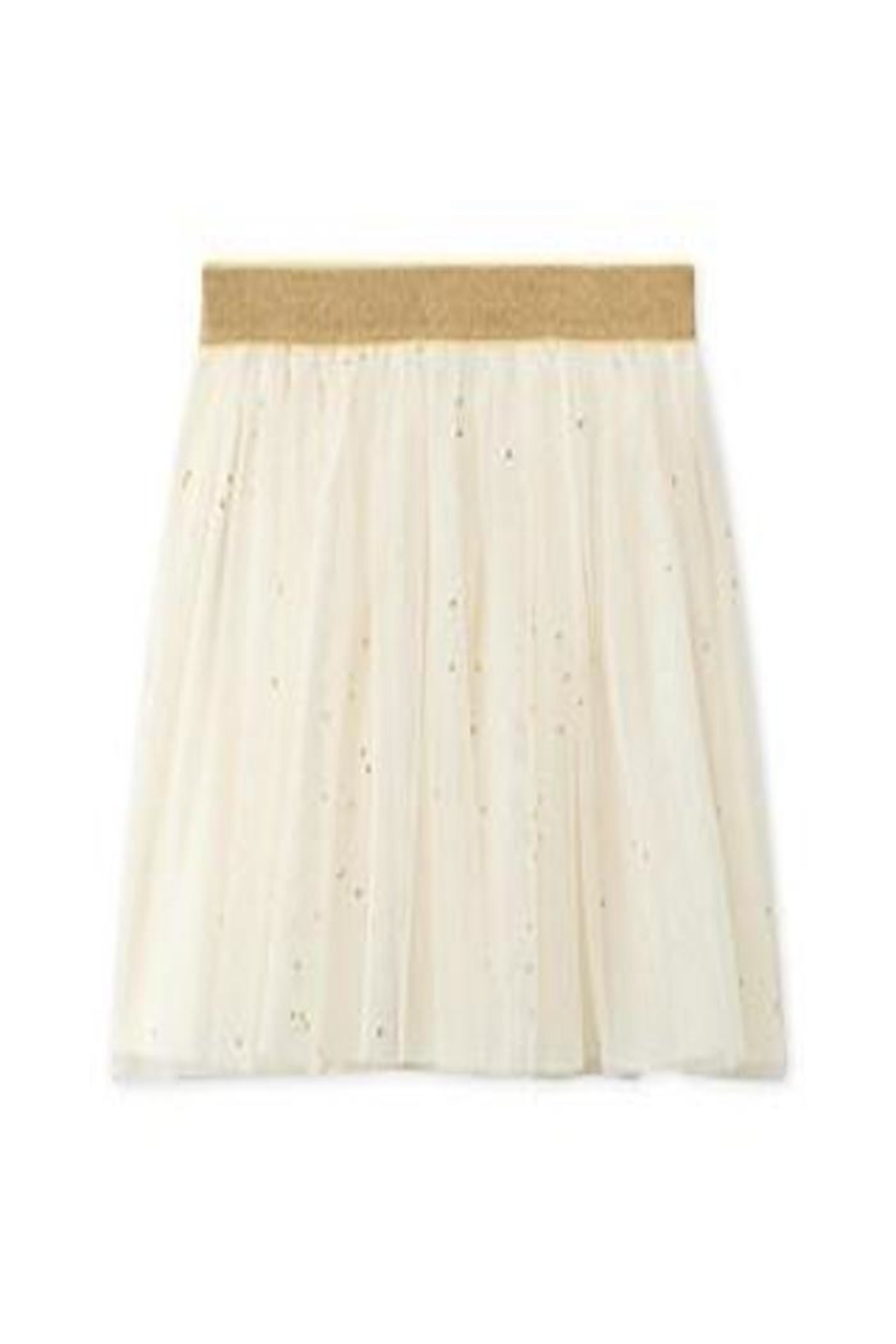 petit bateau White/gold Tulle Skirt - Front Cropped Image