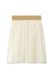petit bateau White/gold Tulle Skirt - Front cropped